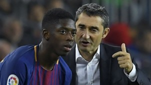 Ousmane Dembele Ernesto Valverde Barcelona Espanyol