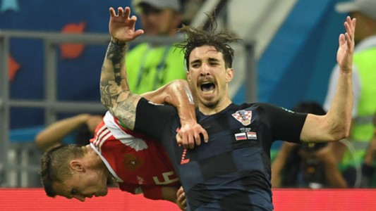 russia croatia - sime vrsaljko - world cup - 07072018