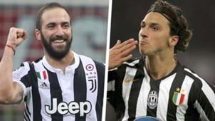 Gonzalo Higuain Zlatan Ibrahimovic Split
