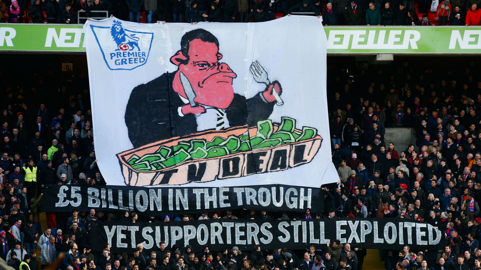 Crystal Palace Premier League TV Tifo