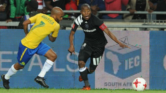 Oupa Manyisa and Thabo Matlaba - Orlando Pirates v Mamelodi Sundowns