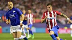 Yohan Benalouane Leicester Fernando Torres Atletico Madrid