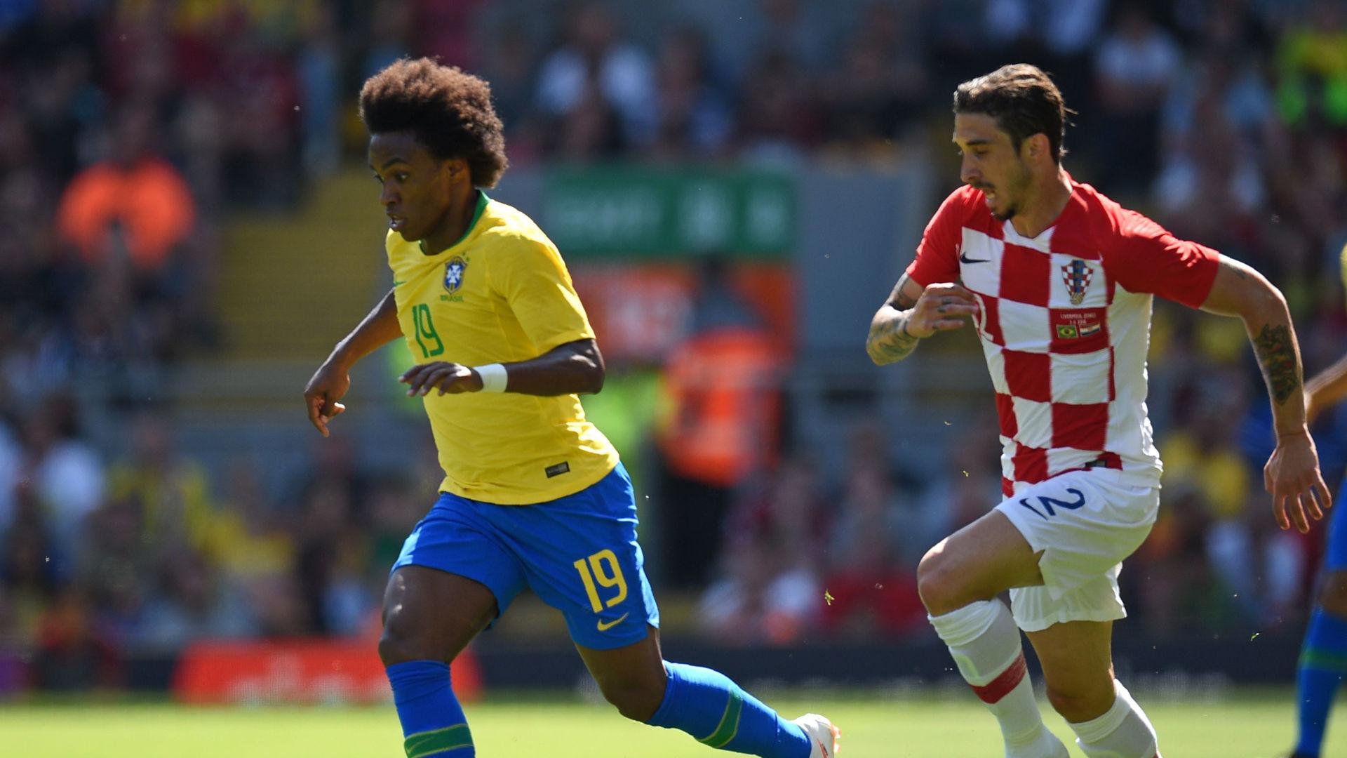 Willian Vrsaljko Brazil Croatia Friendlies 03062018