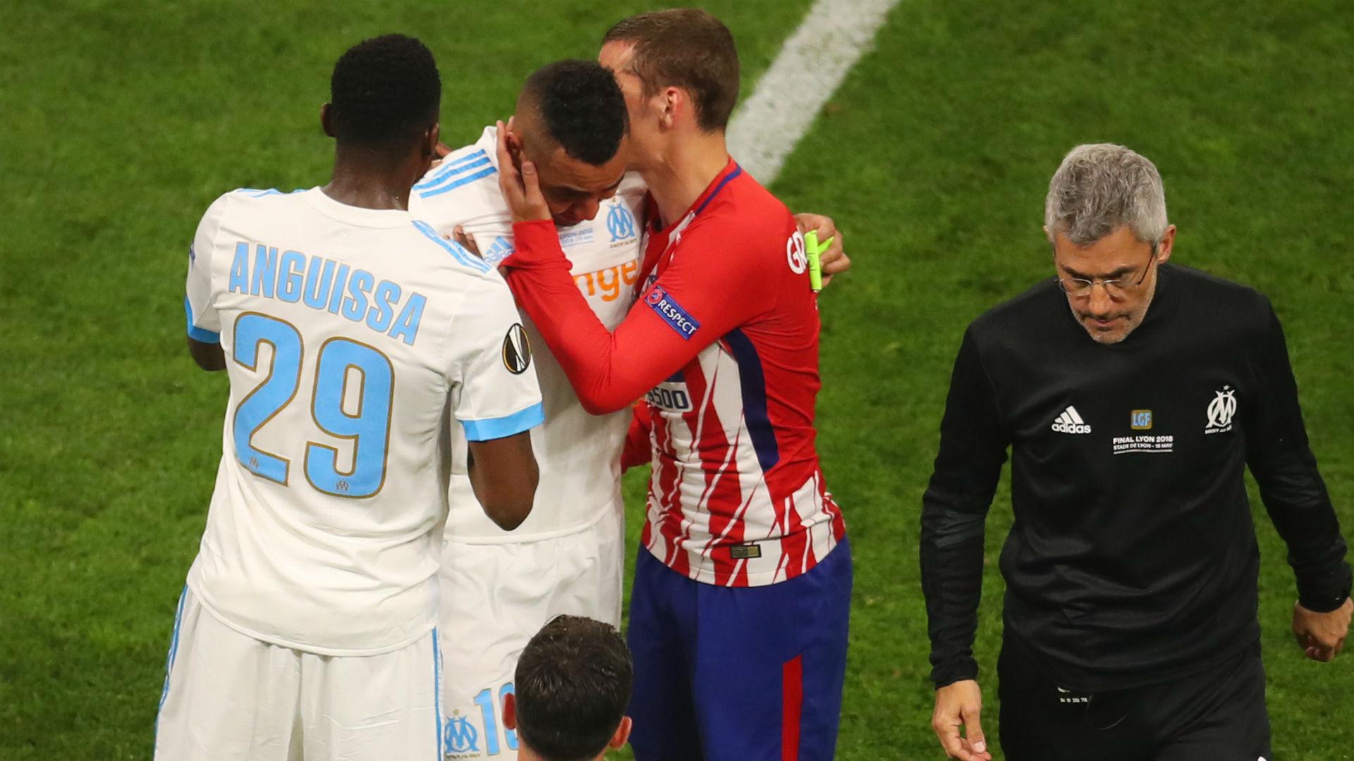 Dimitri Payet Antoine Griezmann Marseille Atletico Madrid UEFA Europa League 16052018