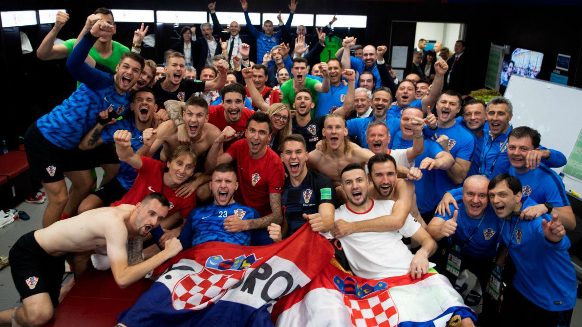 croatia celebration - world cup 2018