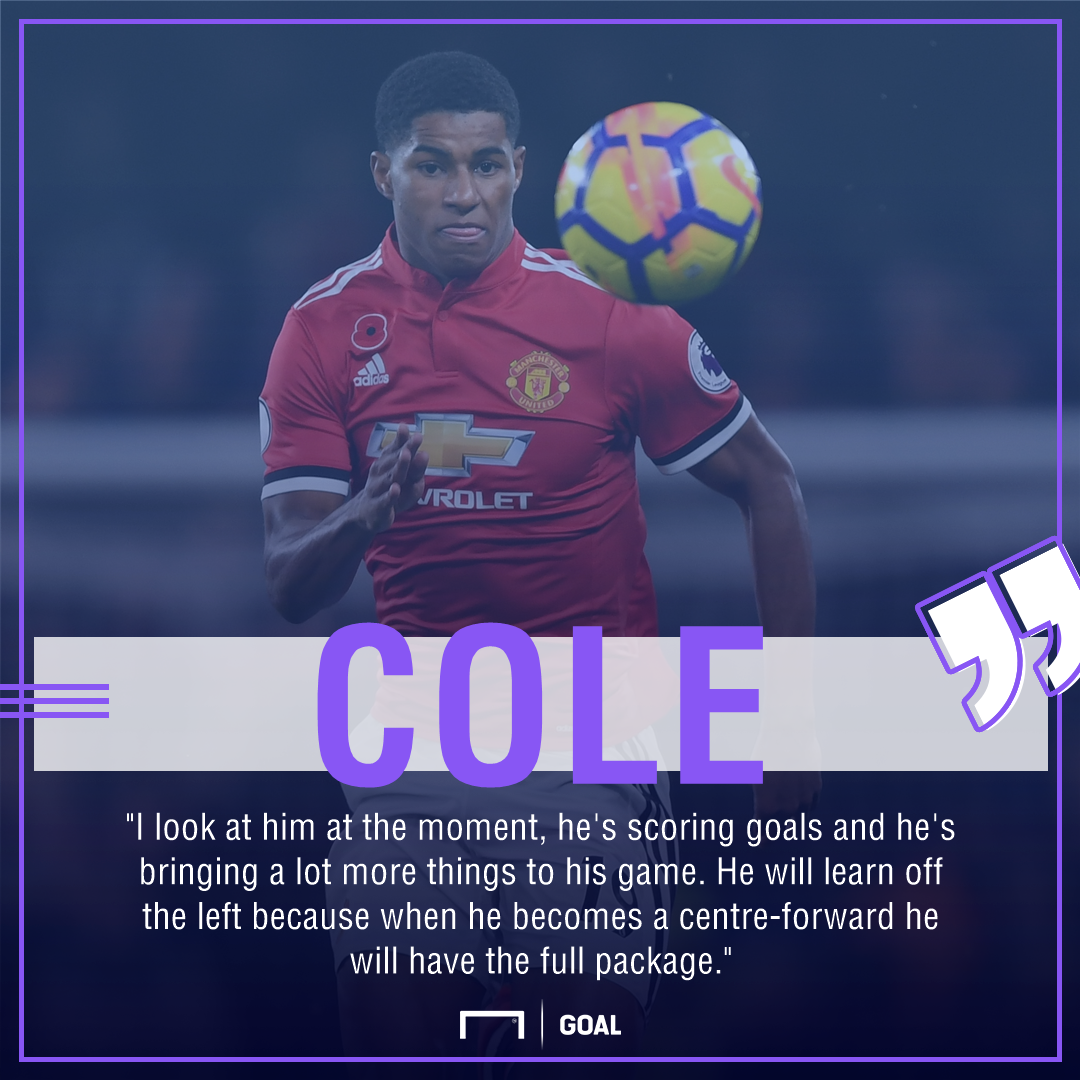 Andy Cole Marcus Rashford Manchester United full package