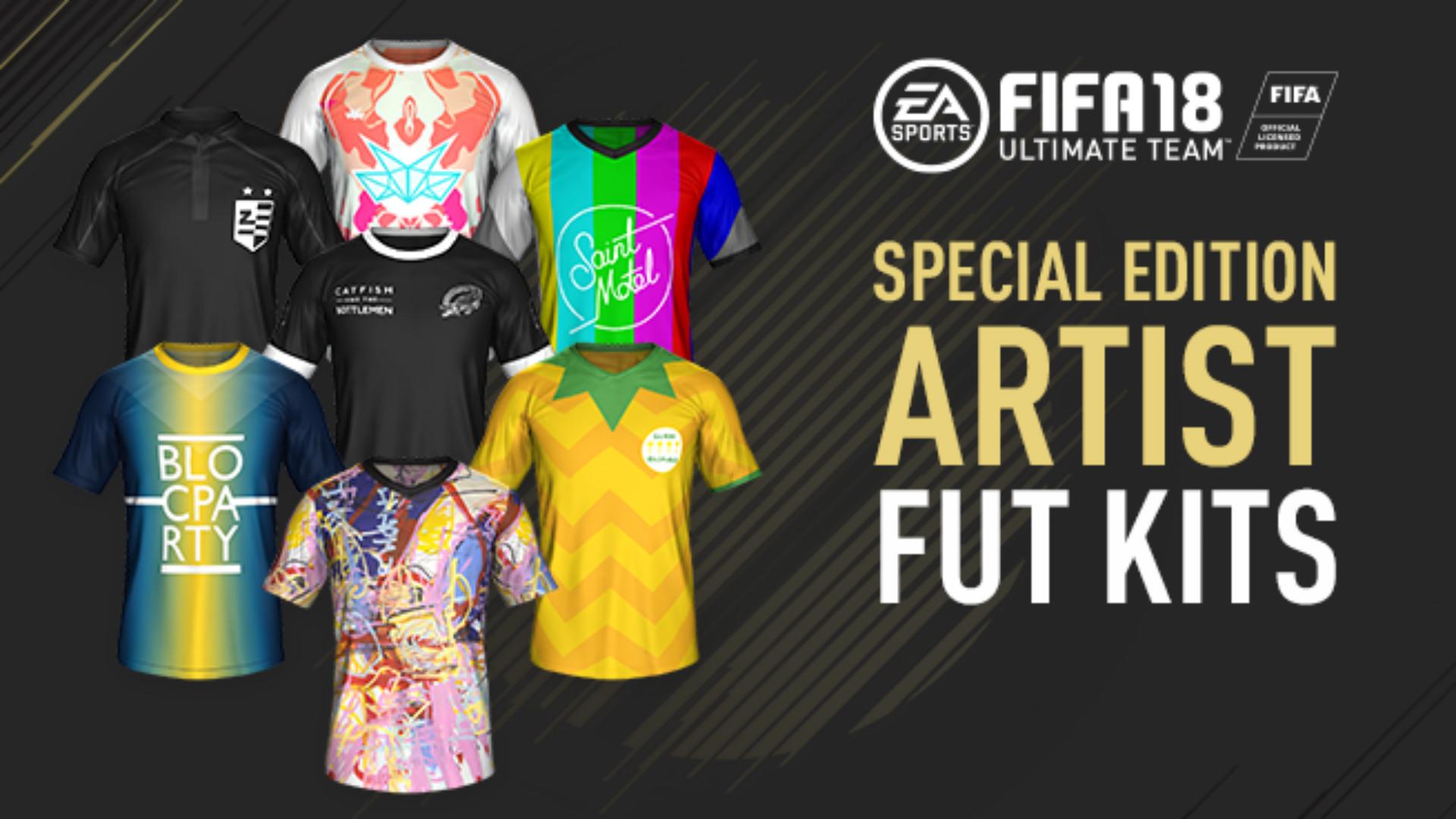 FIFA 18 FUT special kits