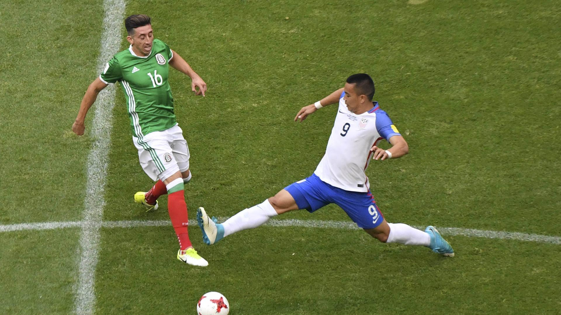 Hector Herrera Mexico Bobby Wood USA
