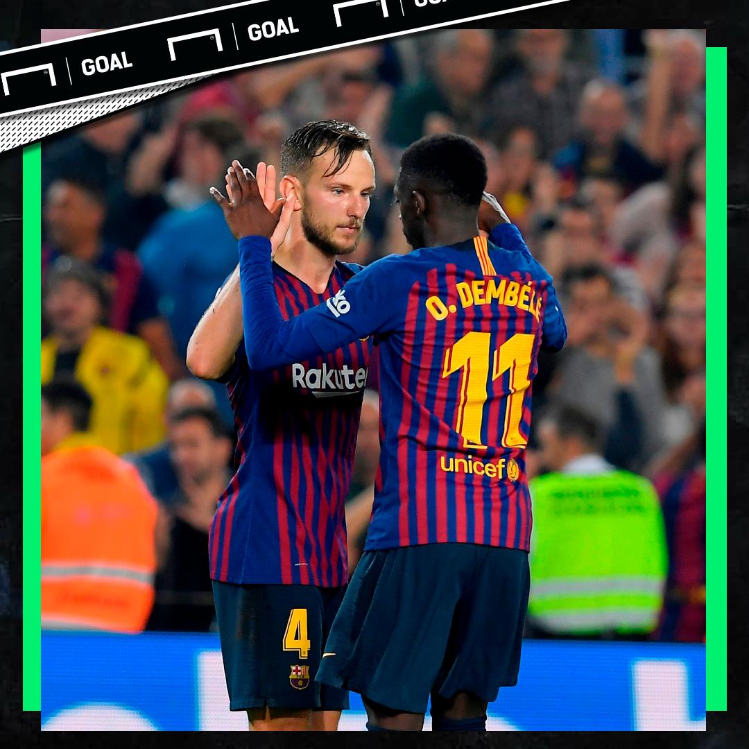 Ivan Rakitc Ousmane Dembele Barcelona PS