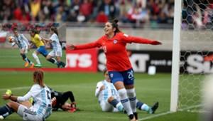 Chile Argentina Copa América Femenina 2018 - Maryorie Hernández Brasil