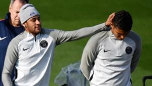 Neymar Thiago Silva PSG treino 26 09 17