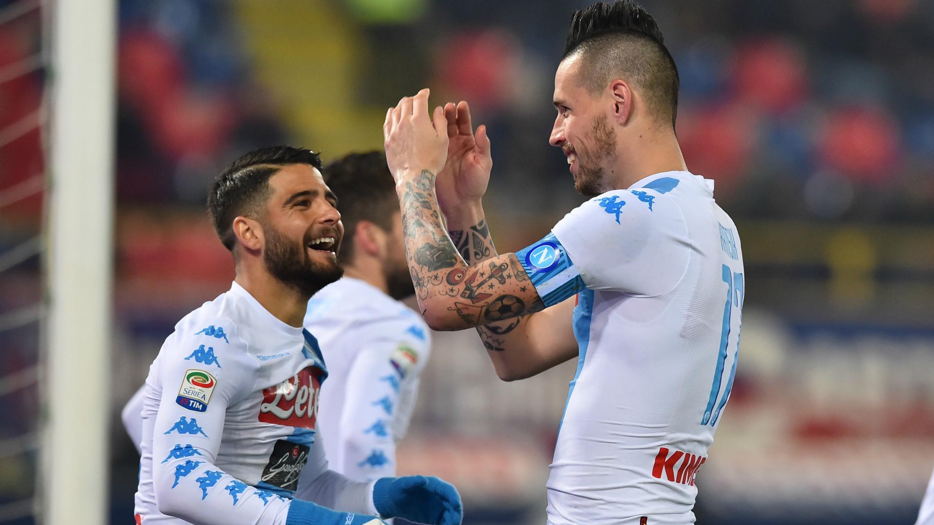 Insigne Hamsik Bologna Napoli Serie A