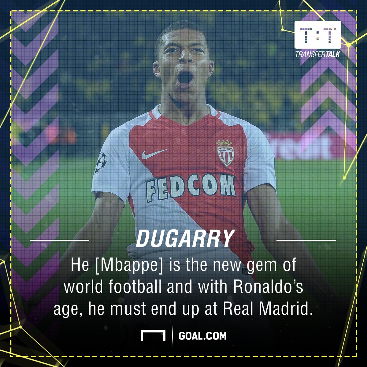 Kylian Mbappe Dugarry Madrid Ronaldo