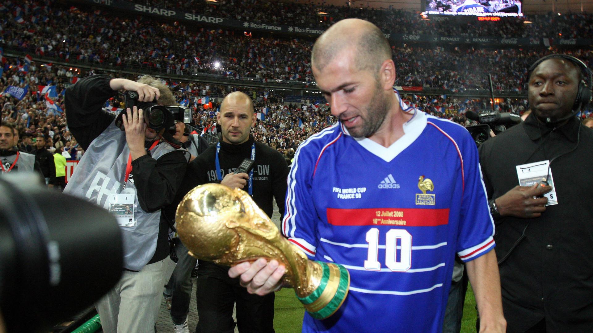Zinedine Zidane France Brazil 1998 World Cup Final 1998
