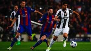 Sergio Busquets Lionel Messi Sami Khedira Barcelona Juventus UCL 19042017