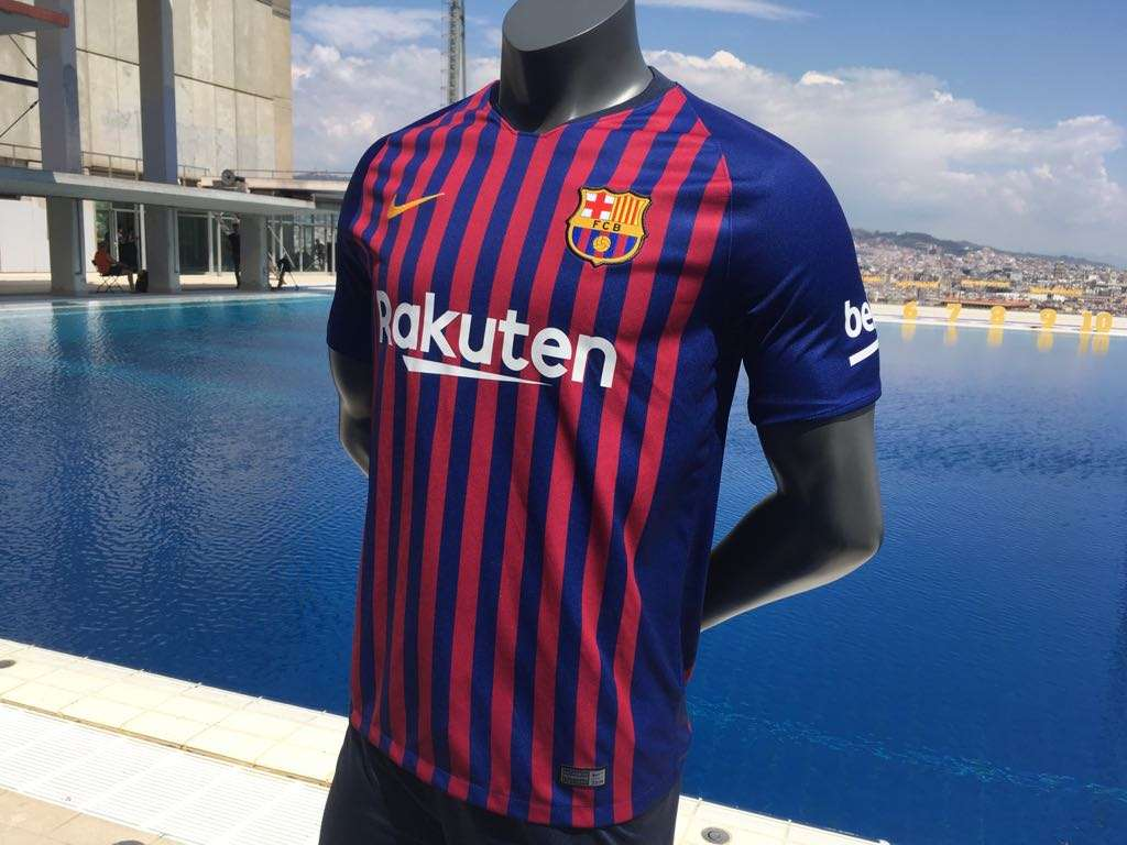 online retailer 74872 12281 Barcelona unveil new home kit for 2018-19 season   Goal.com