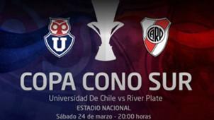 Afiche Copa Cono Sur Universidad de Chile River Plate