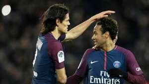 Edinson Cavani Neymar Paris Saint-Germain Dijon