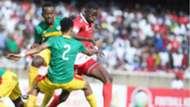 Kenya and Harambee Stars striker Michael Olunga v Ethiopia.