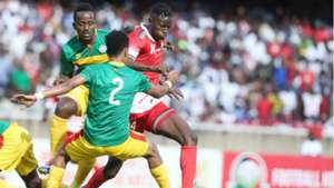 Kenya and Harambee Stars striker Michael Olunga v Ethiopia.