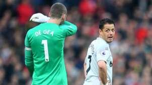 Javier Hernandez Chicharito West Ham United David de Gea Manchester United