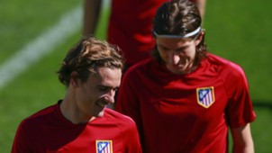 Antoine Griezmann Filipe Luis Atletico Madrid 11042017
