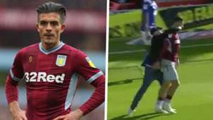 Jack Grealish Aston Villa punch