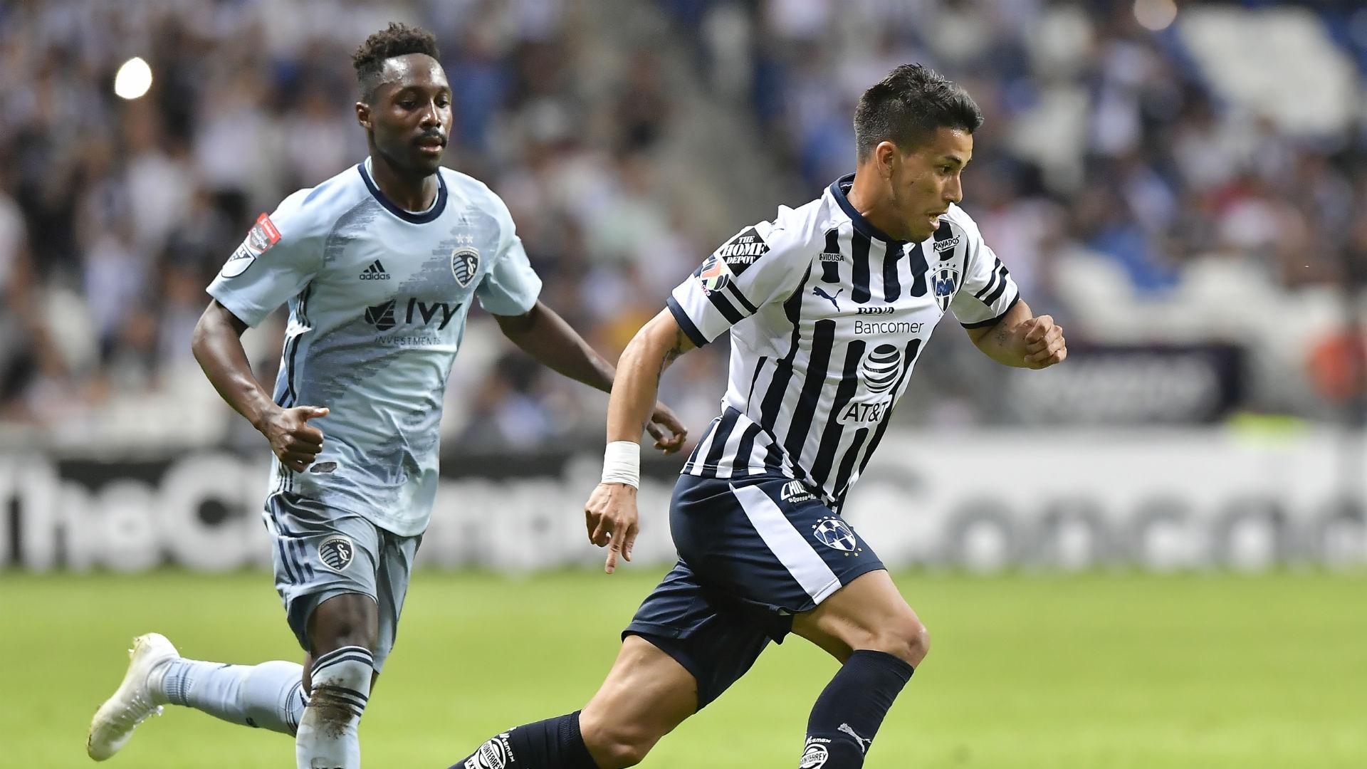 Maximiliano Meza Gerso Fernandes Monterrey Sporting Kansas City CCL 2019