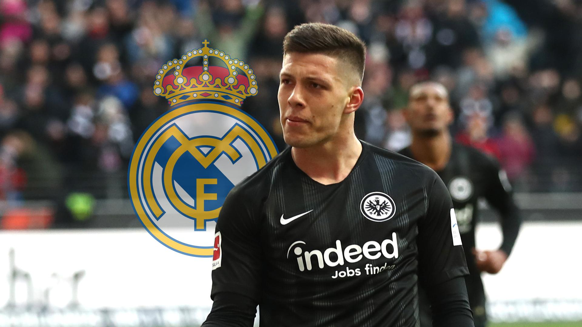 Luka Jovic, Eintracht Frankfurt, Real Madrid logo