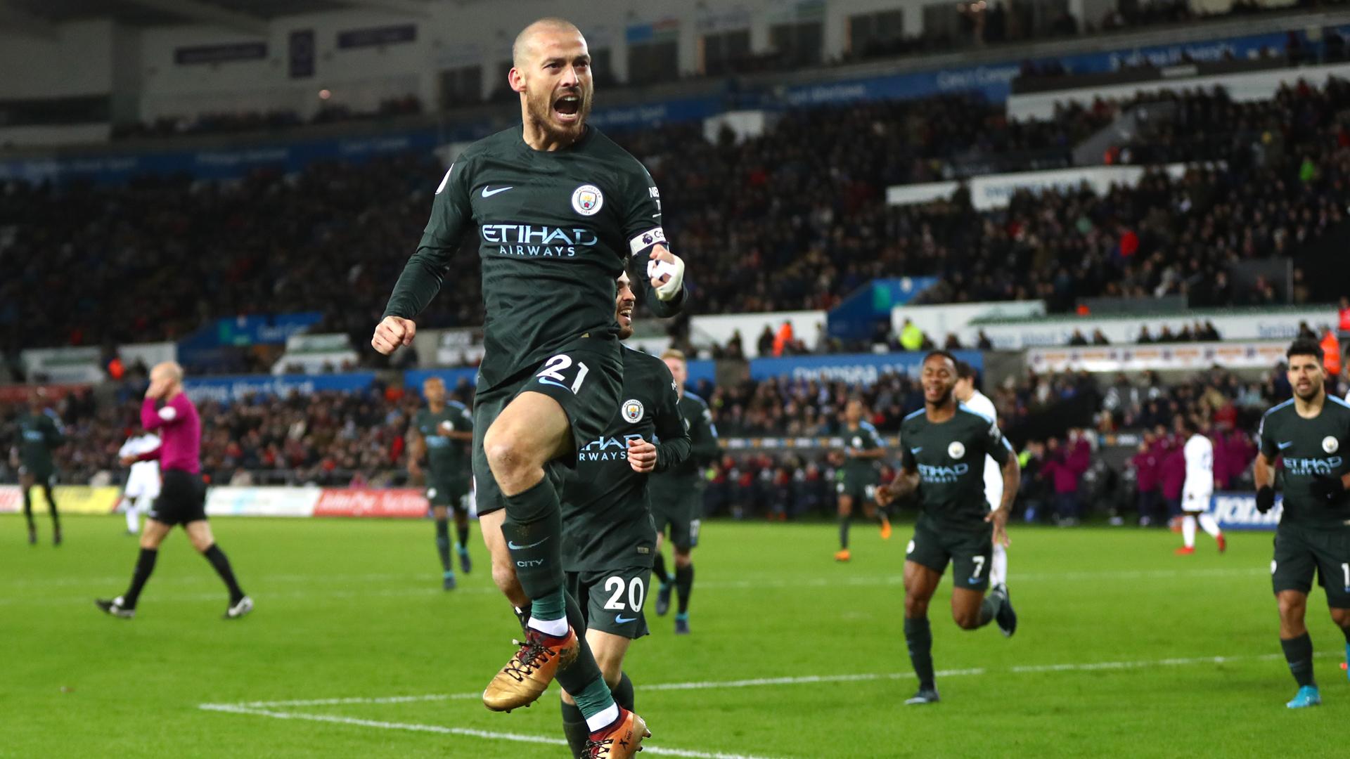 David Silva Manchester City Premier League 13122017