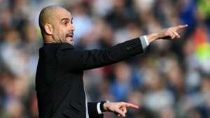 Pep Guardiola Manchester City v Huddersfield