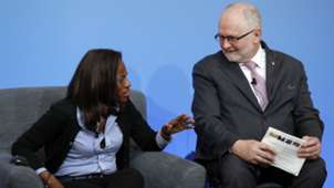 Isha Johansen and Philip Craven