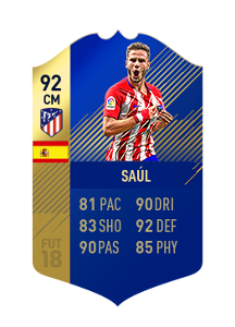 FIFA 18 La Liga Team of the Season Saul