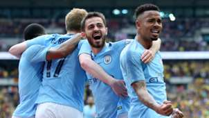 Manchester City celebrate vs Watford, FA Cup final, 2019