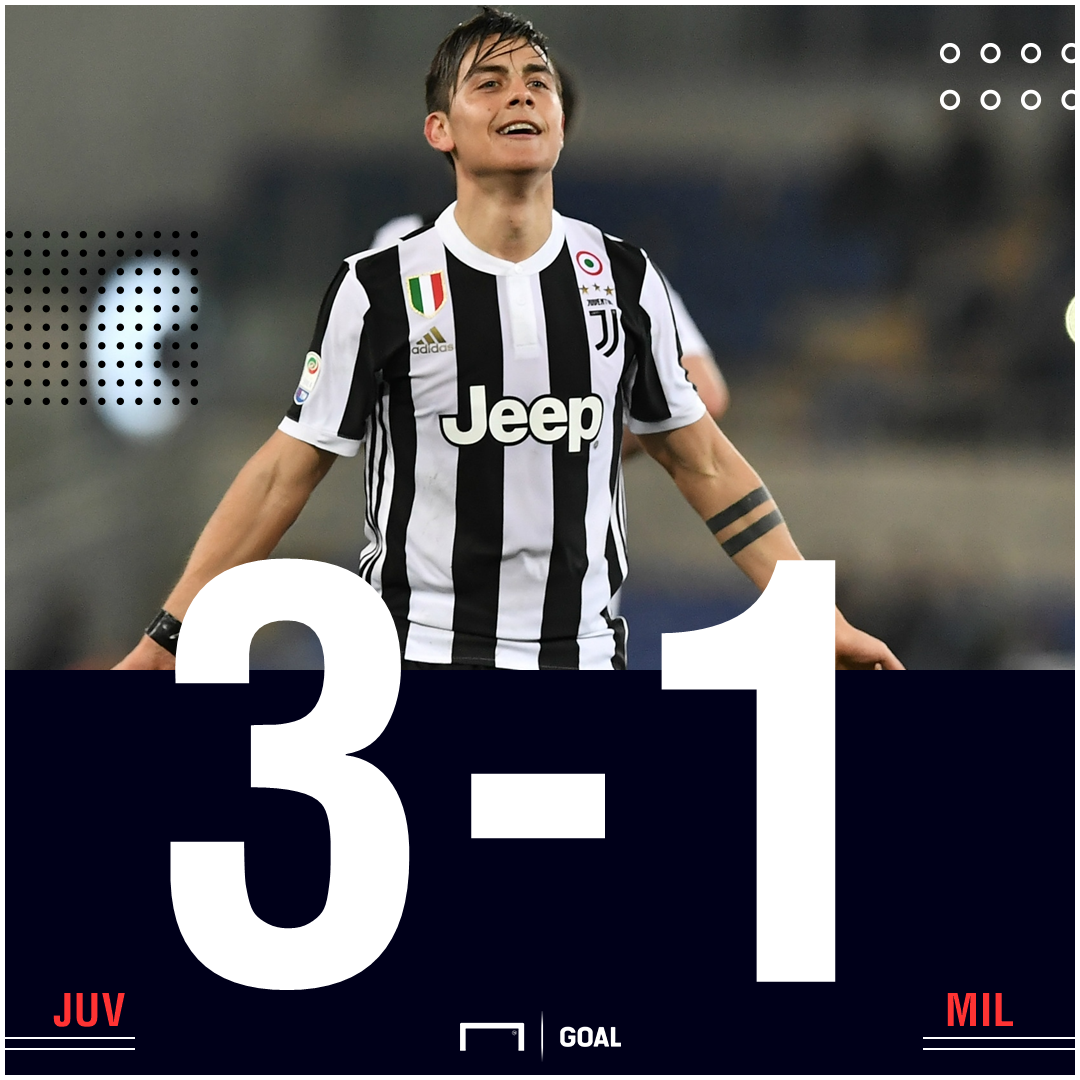 FT: Juventus 3-1 Milan