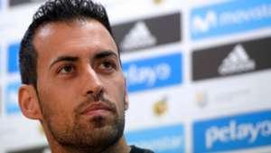 Sergio Busquets Barcelona press conference