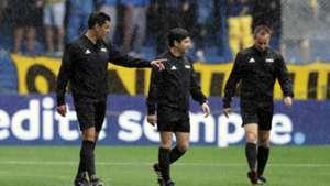 Boca Juniors River Plate pitch inspection