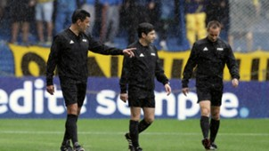 Boca Juniors River Plate pitch inspection