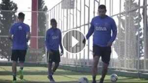 VIDEO PLAY entrenamiento Boca Ciudad del Este Edwin Cardona 26072017