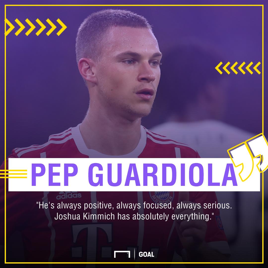 GFX Info Pep Guardiola Joshua Kimmich Bayern