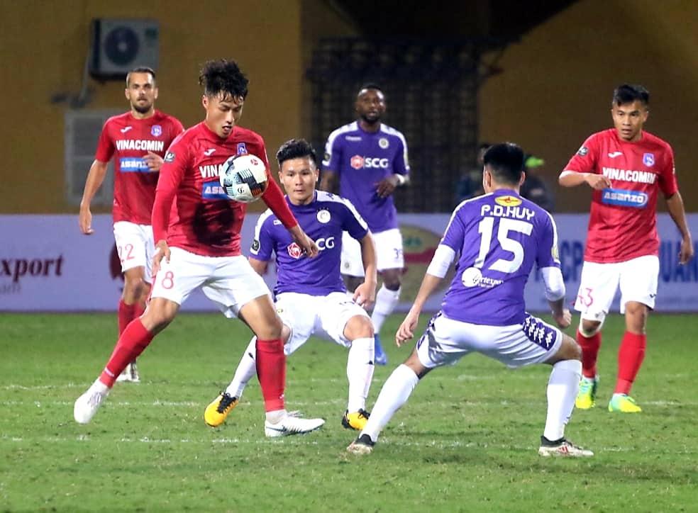 Mac Hong Quan Ha Noi vs Than Quang Ninh V.League 2019