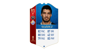 FIFA 18 World Cup CONMEBOL Ratings Suarez
