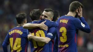 Lionel Messi Jordi Alba Barcelona Sevilla Copa del Rey