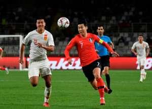 Son Heung-min South Korea vs China AFC Asian Cup
