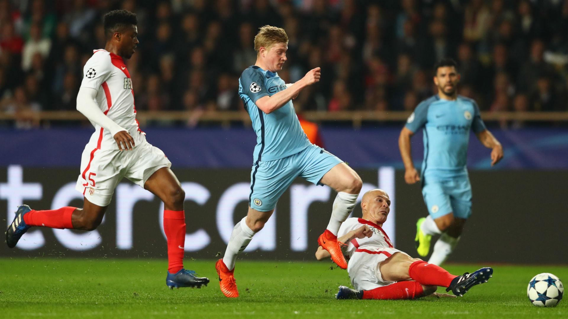 De Bruyne Manchester City Monaco