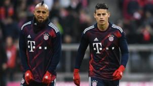 James Rodriguez Arturo Vidal Bayern Munich 2017