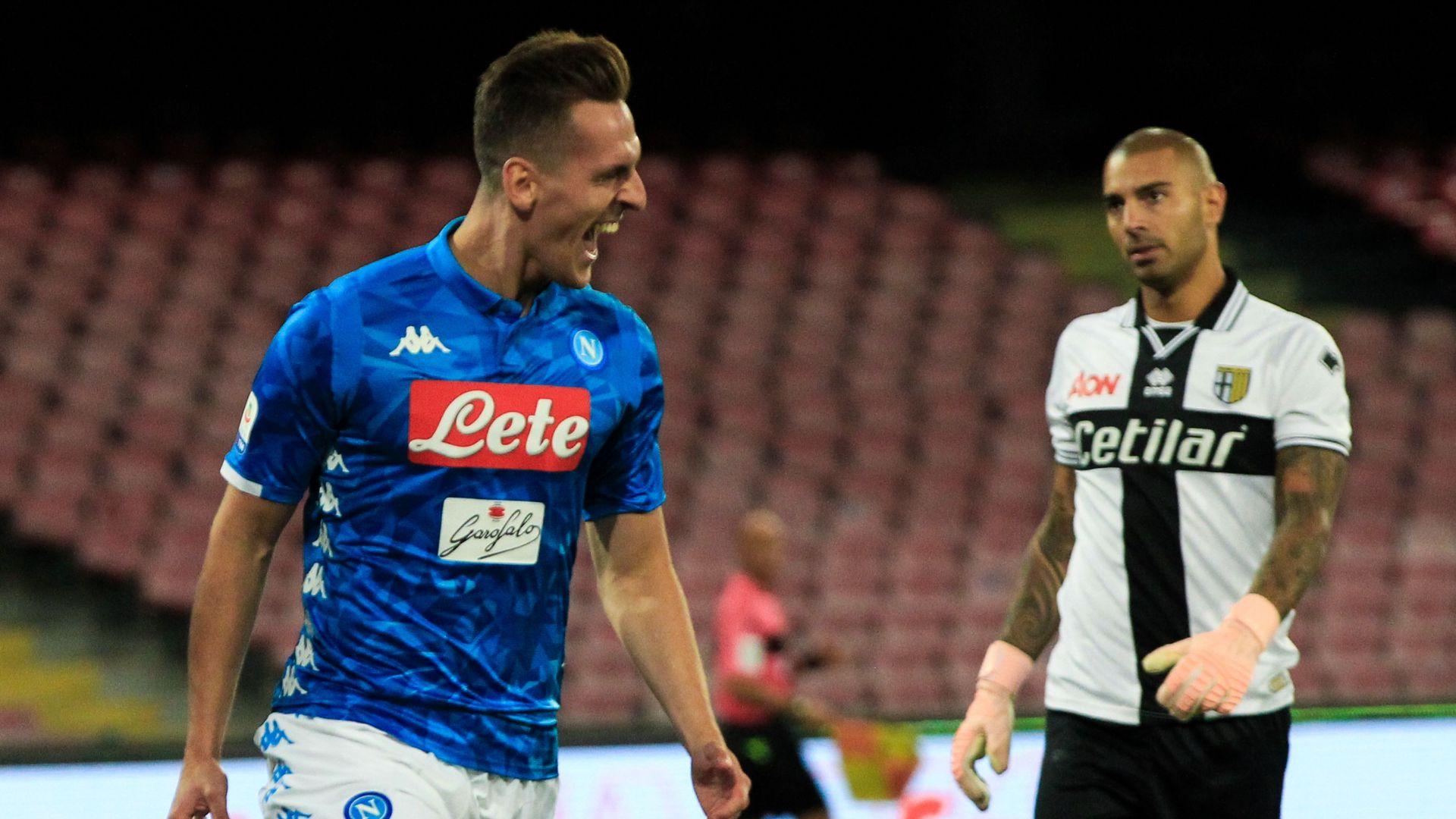 Arkadiusz Milik Napoli Parma Serie A