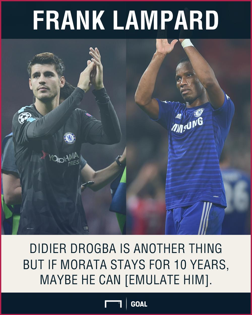 Didier Drogba Alvaro Morata Frank Lampard Chelsea