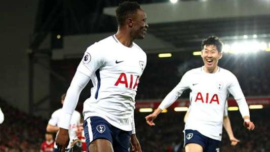 Victor Wanyama scores for Tottenham.