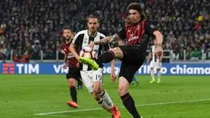 Leonardo Bonucci Alessio Romagnoli Juvntus Milan Serie A